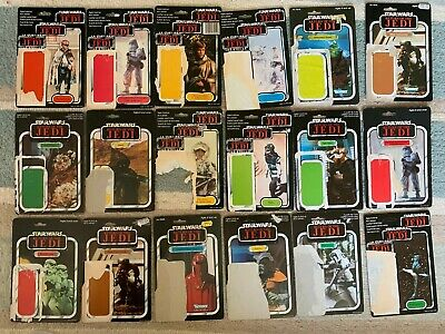 Job Lot 16 Vintage Star Wars Palitoy Kenner Cardbacks Trilogo 65 77 Backs