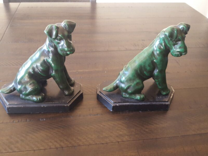 Vintage Bookends Dog  Terrier,Airedale,Fox,Welsh