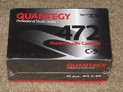 (10) Quantegy 472 C-90 High Bias Type II Blank Cassette Tapes *NEW/SEALED*