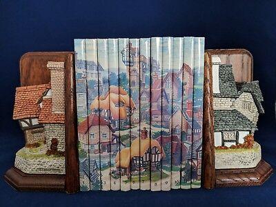 David Winter Bücherstützen The & Book Binder Hütten & 12 Bücher Unterzeichnet
