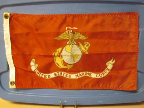 VINTAGE  UNITED STATES MARINE CORPS MINI FLAG  GOOD USED CONDITION