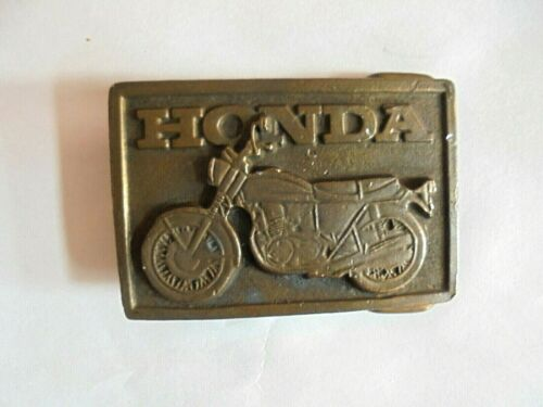 Vintage Honda Motorcycle Advertising Belt Buckle