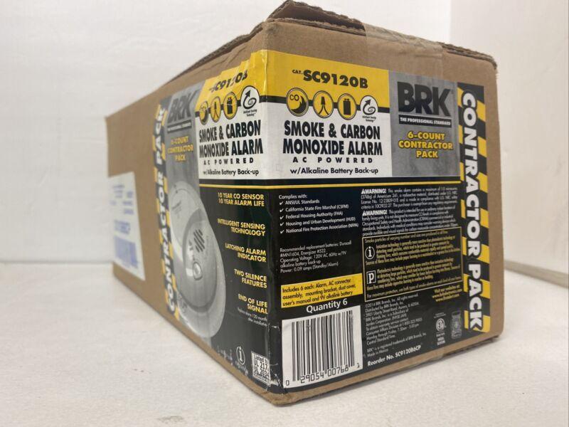 BRK SC9120B  SMOKE AND CARBON MONOXIDE DETECTORS LOT OF 6