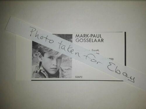 Mark-Paul Gosselaar Saved by the Bell Original 1980s actors casting ad