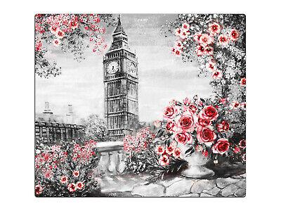 Herdabdeckplatte, Glas-Schneidebretter, Big Ben London Rosen HA537182806 (Big Ben Schneiden)