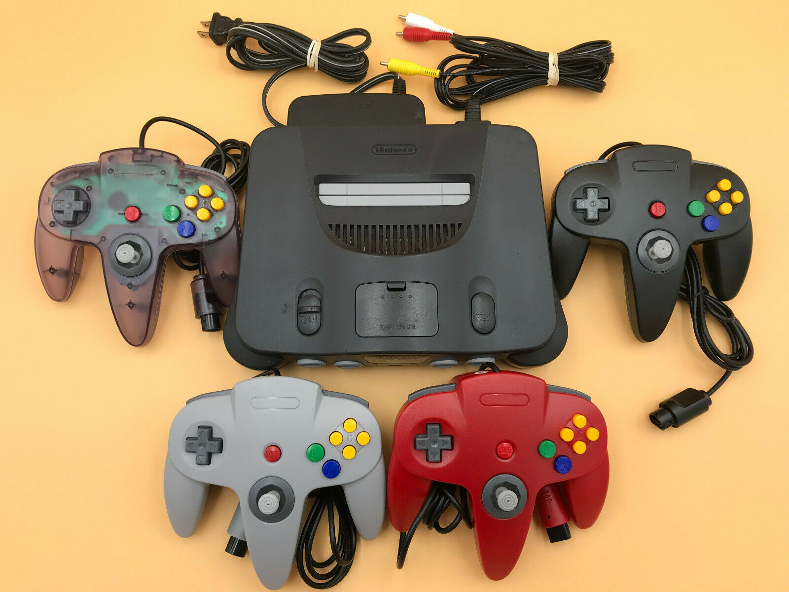 n64 64 console up to 4 new