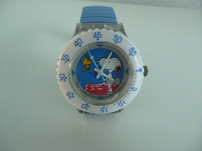 Armbanduhr Peanuts digi-tech weiß Uhr Charlie Brown Snoopy + Woodstock RAR