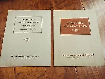 Vintage 1939 Anaconda Copper Welding Rod Pamphlet Booklet American Brass Company