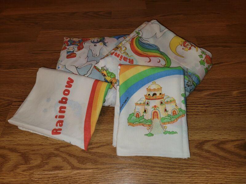 Rainbow Brite Full Sheet Set Vintage 1983 Hallmark