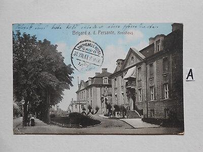 Postkarte Ansichtskarte.Belgrad a.d.Persante, Kreishaus