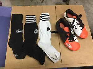 Umbro Soccer Cleats - Size 2 & 3 Pairs of Soccer Socks