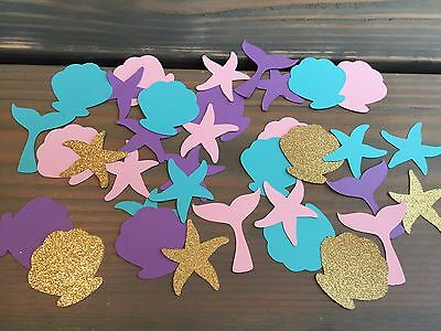 100 Mermaid Confetti, Under The Sea Party, Sea Shells, Mermaid Tails, Party - Mermaid Decorations
