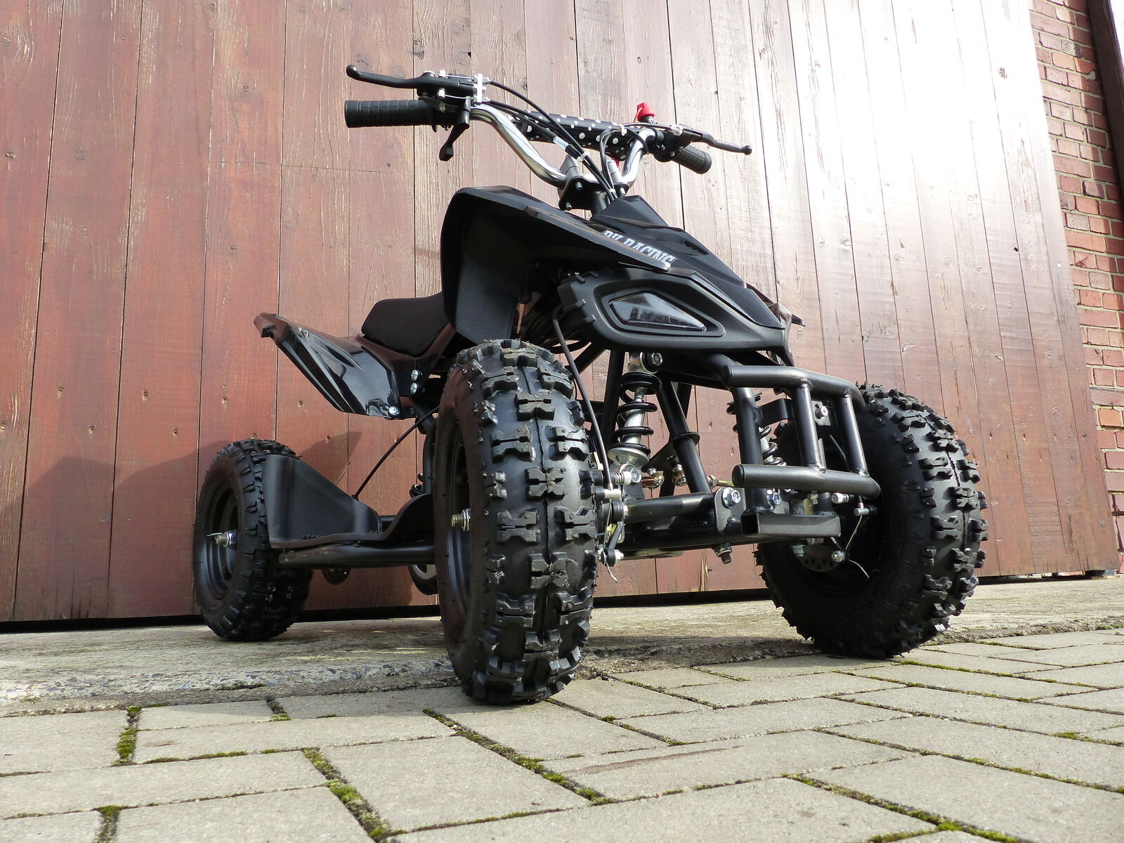 RV-Racing Quad Mini Kinder ATV 6 Zoll 49cc 2Takt Pocketquad Kinderquad Schwarz
