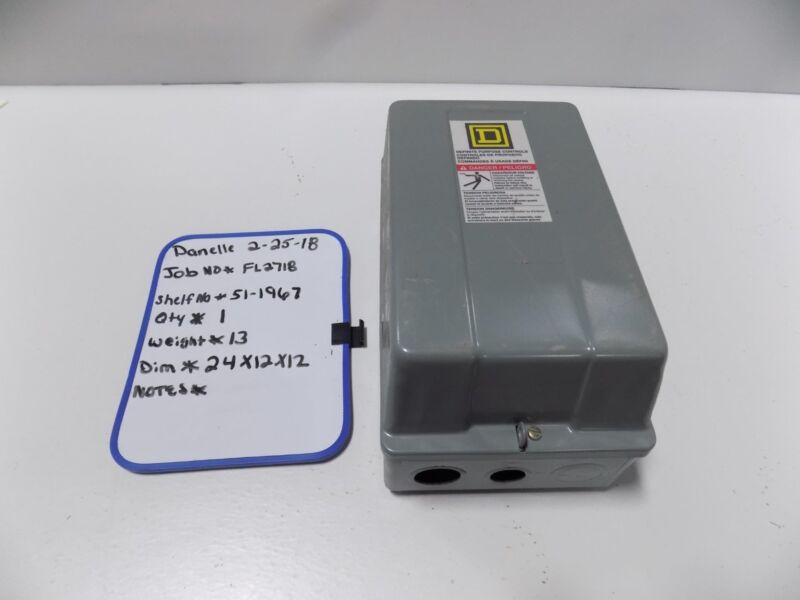 SQUARE D DEFINITE PURPOSE CONTROLLER ENCLOSURE 30072-311-29B 12OV