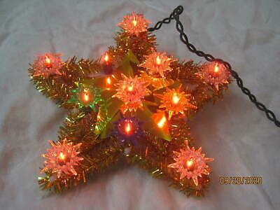 Vintage Lighted Christmas Tree Star Topper #6