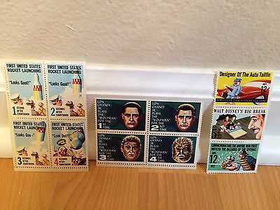 Mad Magazine Vintage Stamps lot of (11) all ...Mint Condition..