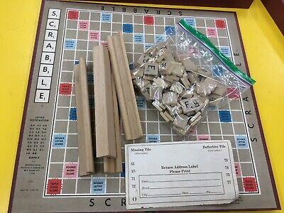 Vintage Selchow Righter USA Made Original Box Crossword Board Scrabble Game