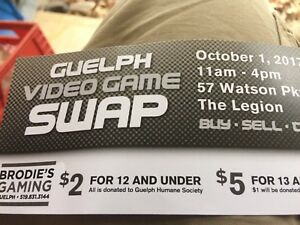 Guelph Video Game Swap and Sale This SUNDAY 11-4