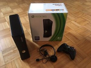 Xbox 360 with one controller/headset in the box