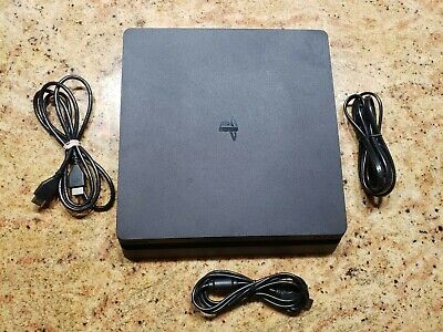 Sony PlayStation 4 PS4 Console System 1TB with cables.