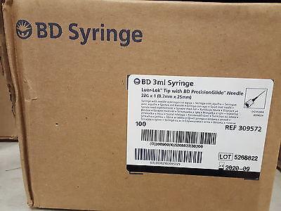 309572 - 3 mL BD Luer-Lok™ syringe with 22 G x 1 in.--100pcs.