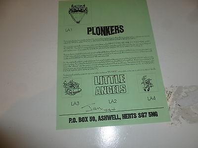 """LITTLE ANGELS - Plonkers """"Flyer"""""""