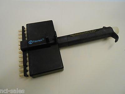 Titertek Adjustable 50-200 L 12 Channel Digital Manual Pipette