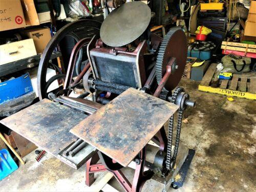 Antique Chandler & Price 12x8 Letterpress / Elec. Motor & Print Blocks Included!