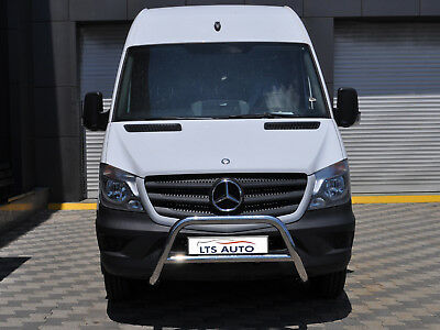 MERCEDES SPRINTER CHROME NUDGE A-BAR, STAINLESS STEEL BULL BAR 2014 ONWARDS W K