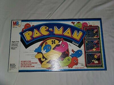 Vintage Pac-Man Board Game 1980 Milton Bradley.