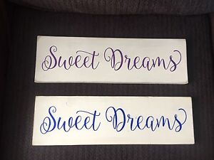 """Hand Painted & Handmade """"Sweet Dreams"""" Wooden Signs"""