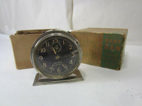 Vintage Westclox Baby Ben Deluxe Alarm Clock w/Orig. Box