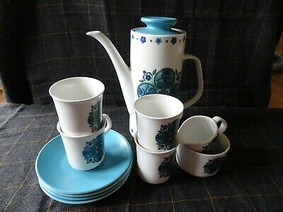 J & G Meakin Studio 1960s 4 Cup Studio Pottery Coffee Set Original for sale  Shipping to Ireland