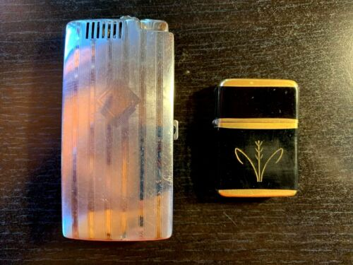 Lot of 2 VINTAGE Lighters - Ronson Cigarette Case w/lighter & Storm King