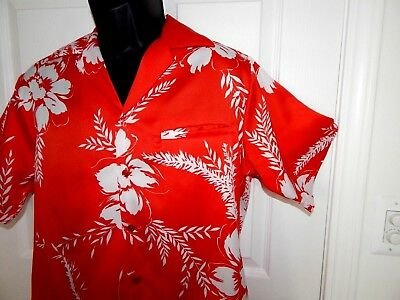 Vintage 1960s Hilo Hattie Fashions Hawaiian Shirt Men's Medium Made in Hawaii