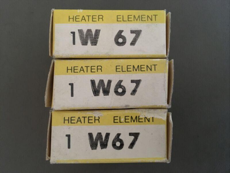 Allen-Bradley W67 Heater Lot Of 3