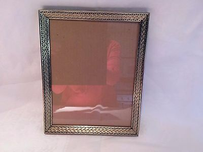 Beautiful Wide Gold Floral Picture Frame midcentury  8x10