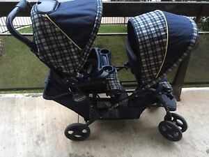 POUSETTE DOUBLE GRACO DUO GLIDER PRESQUE NEUF