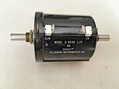 Beckman Instruments 500 Ohm 10 Turn Precision Potentiometer A R500