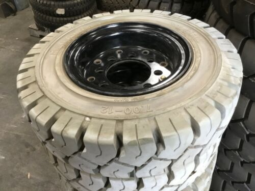 7.00X12 Solideal Forklift Tire Non Marking Magnum With Rim #T9