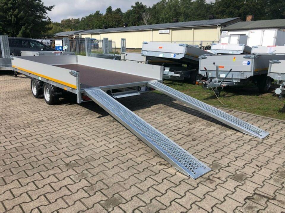 ⭐️ Eduard Auto Transporter 2700 kg 406x200x30 cm Rampen Winde 63 in Schöneiche bei Berlin