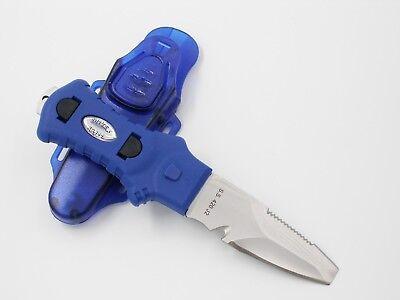 Blunt Tip Diving Knife - OTG Scuba Diving 420 Stainless Steel Blunt Tip BCD Dive Knife w/ Sheath #OG-181