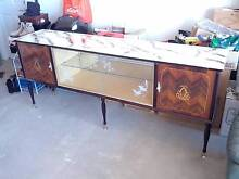Beautiful buffet with glass display shelf /door + matching mirror Northfield Port Adelaide Area Preview