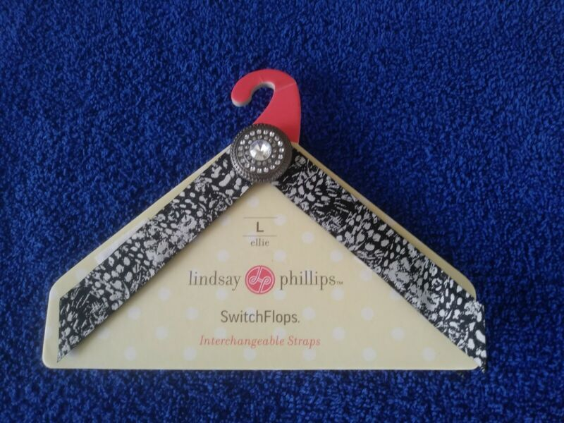(10) Lindsay Phillips SwitchFlops Interchangeable Straps Size Large Only Unused