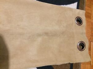Suede light brown curtain panel
