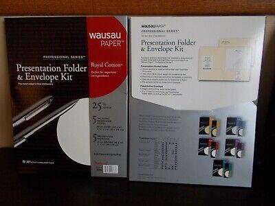 Wausau Paper Presentation Folder Envelope Kit 5 Envelopes 5 2 Pocket Folders