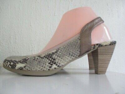 HISPANITAS Snake Skin Print  Real Leather Slingback Sandal Shoes Size 7 40