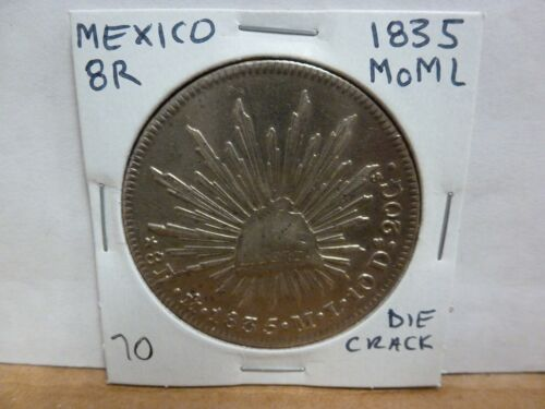 1835 Mo ML MEXICO, 8 Reales, Silver