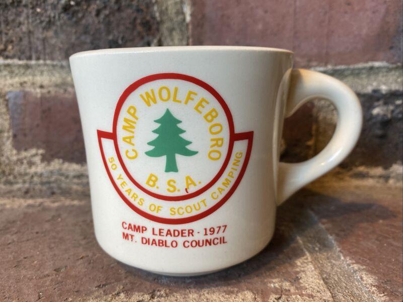 Boy Scout 1977 Camp Wolfeboro Camp Leader Mt. Diablo Council 8oz Coffee Mug
