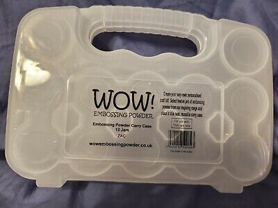 Wow embossing powder carry case for 12 jars